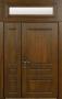 Двустворчатая дверь Стальная линия Прованс с фрамугой 100У