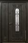 Двустворчатая дверь Стальная линия Лацио Серая 100У