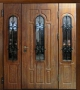 Трехстворчатая дверь Славянский стиль Усадьба
