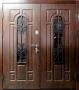 Двустворчатая дверь Славянский стиль Усадьба (2 стеклопакета)