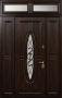 Трехстворчатая дверь Стальная линия Монарх с фрамугой