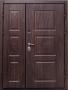 Двустворчатая дверь Славянский стиль Квадрат